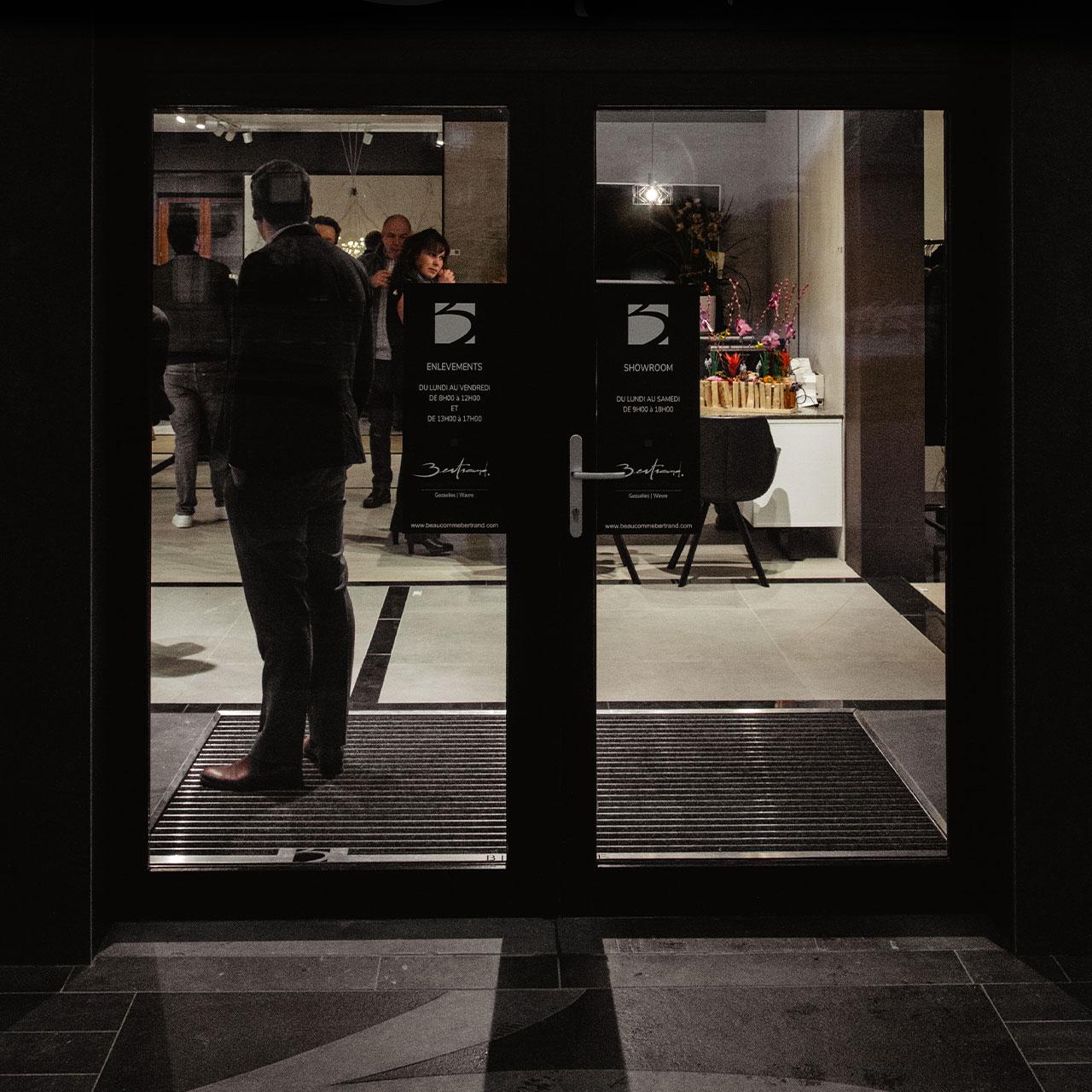 showroom Bertrand carrelage et pierre à Wavre